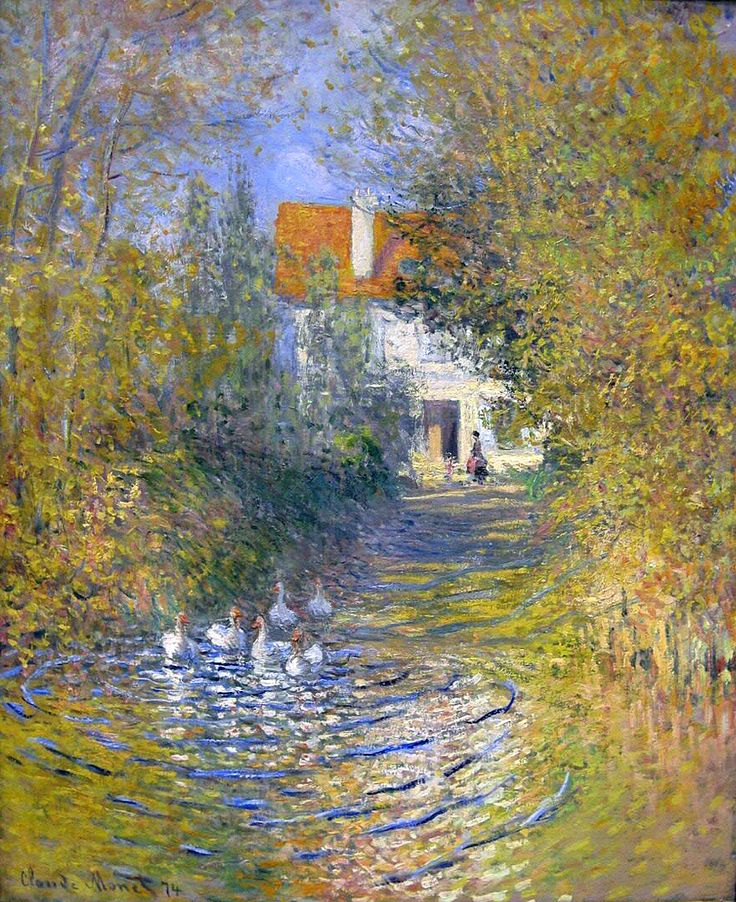 Geese in the creek, 1874 - Claude Monet.. one of fav impressionistic artist!
