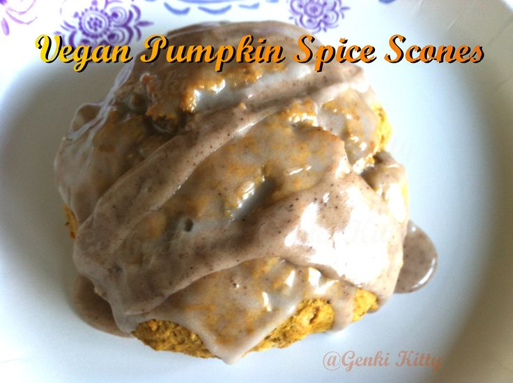 Image Vegan Pumpkin Spice Scones Recipe