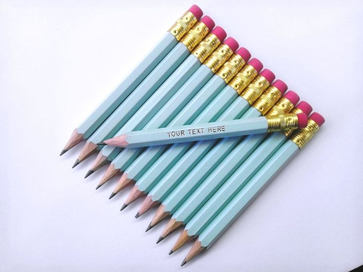 "144 ""Pastel Blue"" Personalized Golf Pencils with Erasers"