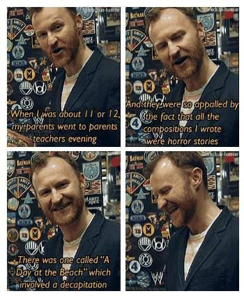 Mark Gatiss. killing his characters from birth.