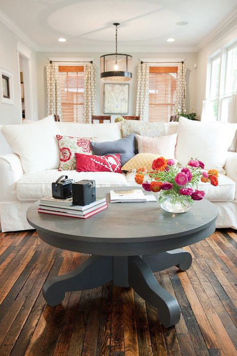Reclaiming Your Castle   …loving the place you come home to. Love the lightedness of the room!