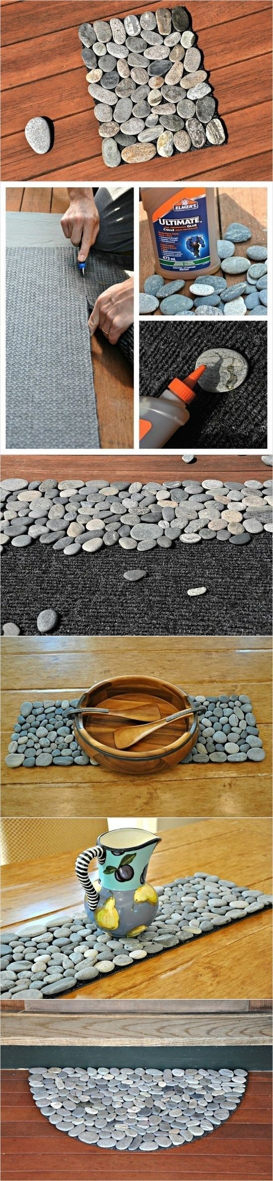 DIY pebble mat or coster @ Do It Yourself Pins