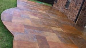 Stained Concrete Patio By ButterflyJ Concrete Patio