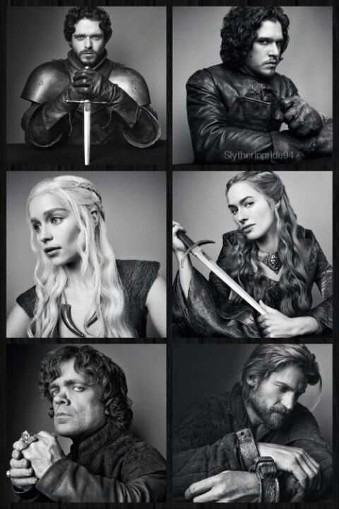 Game of Thrones - Robb Stark, Jon Snow, Daenerys Targaryen, Cersei, Tyrion, and Jaime Lannister