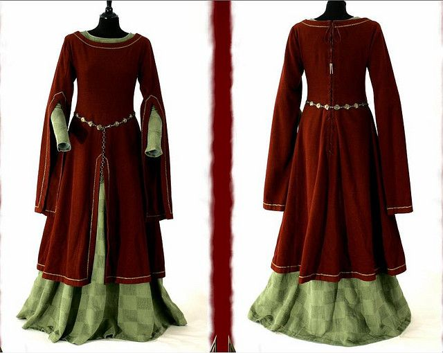 Overdress and underdress for 13th century