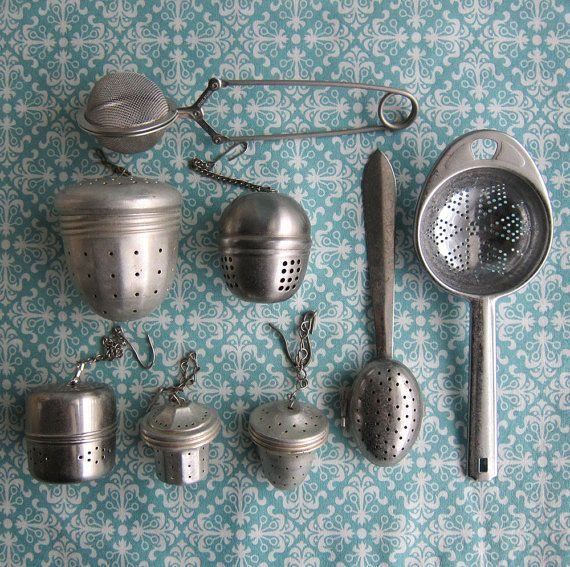 Vintage Tea Infusers Tea Balls Instant by RetroGirlRedux on Etsy, $26.00