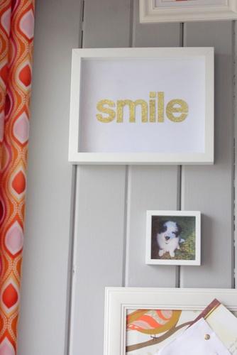 "DIY ""smile"" art"