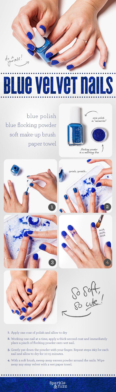 DIY - Velvet nails!