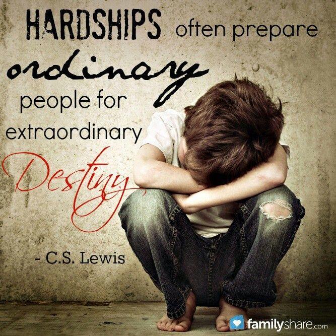 C.S. Lewis quote - hardship