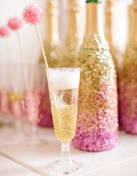 pink & gold & champagne <3