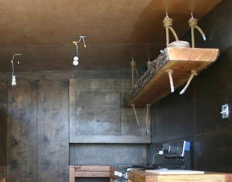 Image result for hanging kitchen shelf