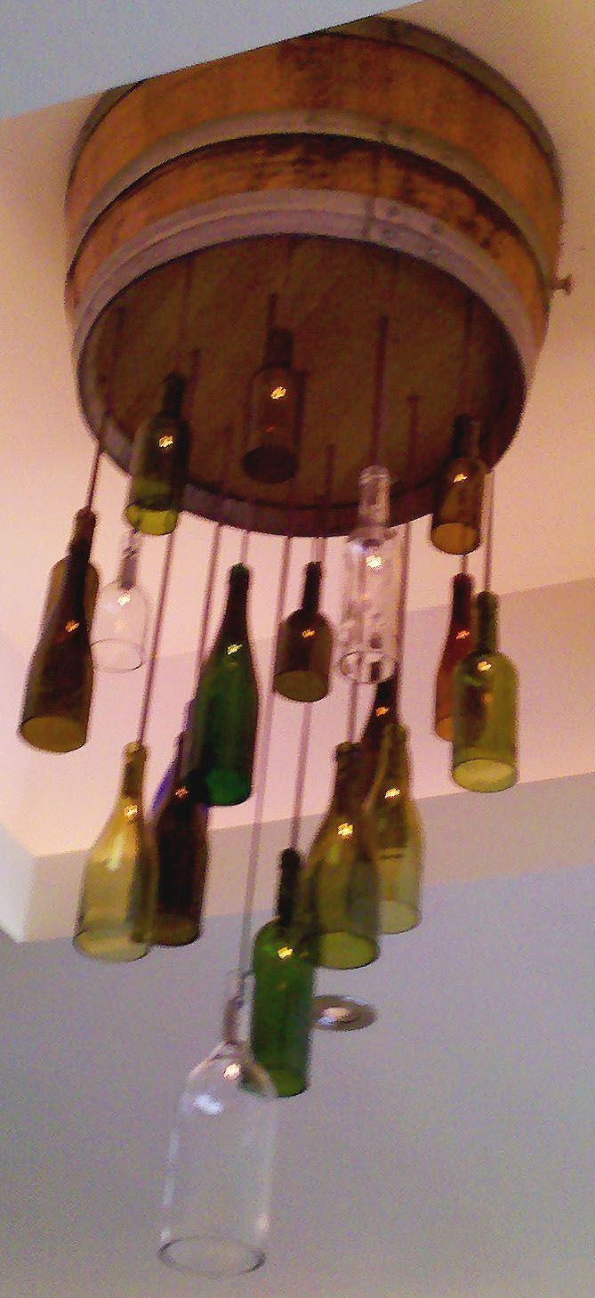Wine Bottle Light Fixtures #G2Bottle Cutter #bottleart #upcycle