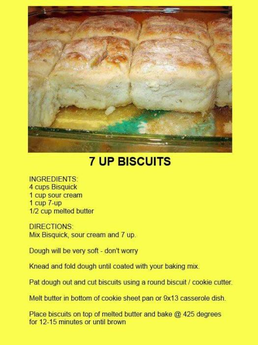 Recipe for easy 7-up Biscuits