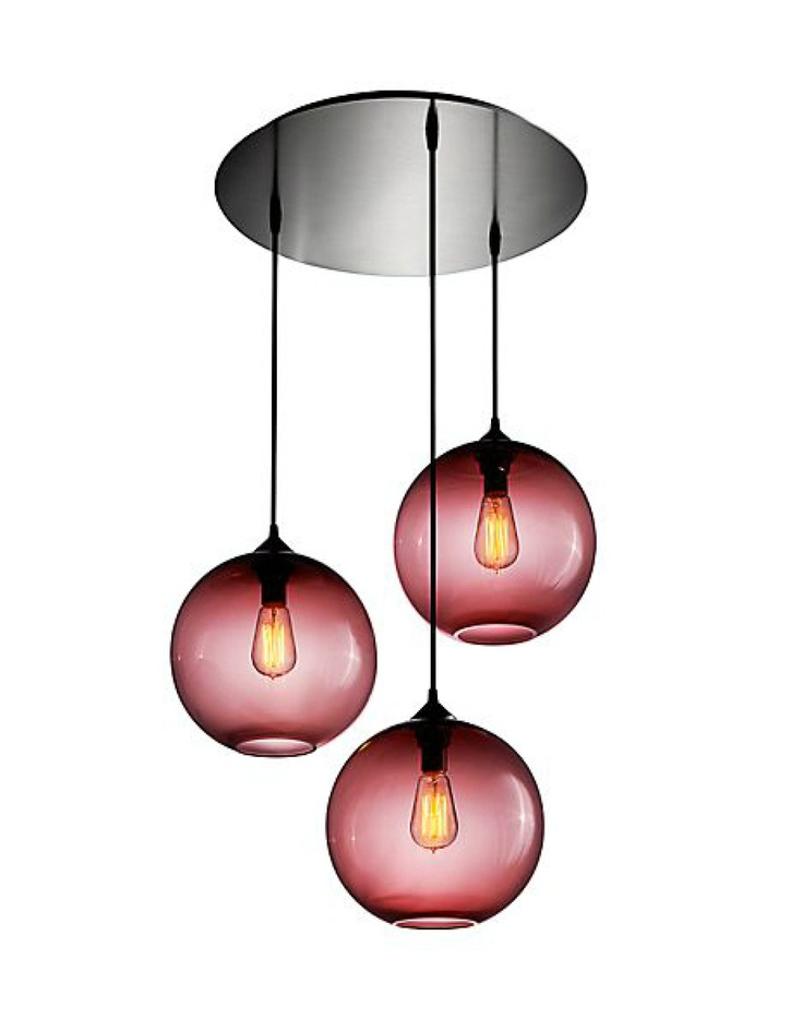 could create something like this from several of the pink/plum home decorators lamps (& find something different for entryway).