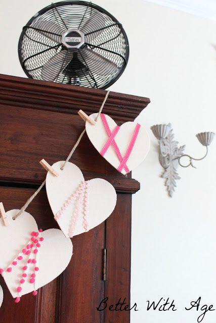 Valentine's Day garland www.somuchbetterwithage.com