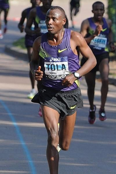 After a 27-year wait, the 33rd Beijing International Marathon finally produced a course record as Oromo athlete Tadese Tola won the IAAF Gold Label Road Race in 2:07:16 on Sunday (20 the October 2013), http://www.iaaf.org/news/report/beijing-course-record-finally-broken-by-tola