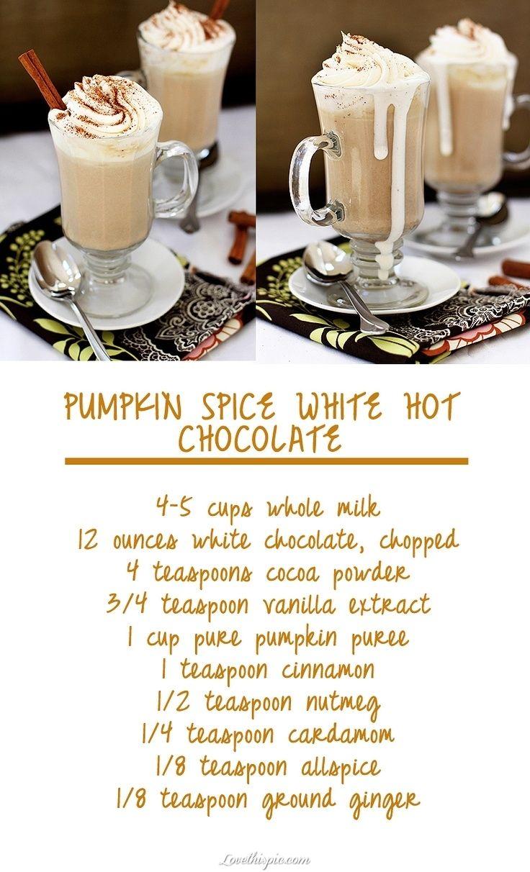 Pumpkin Spice Hot Chocolate recipe recipes ingredients instructions drink recipes easy recipes christmas recipes halloween recipes holiday recipes thanksgiving recipes