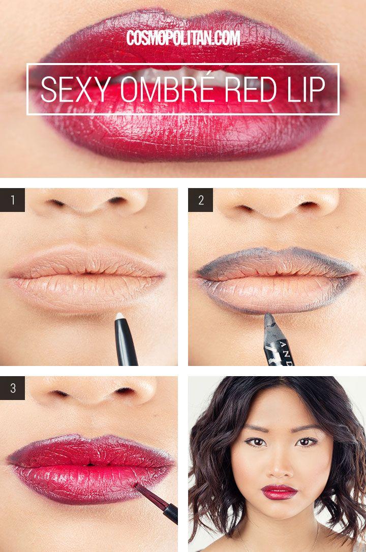 Makeup how-to: sexy ombré lip