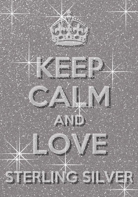 Keep calm and love Sterling silver