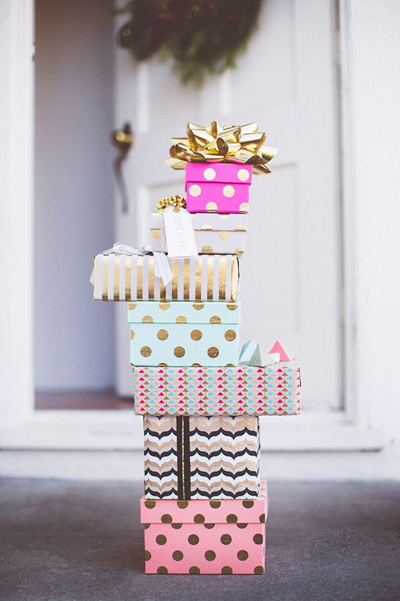 Holiday gift wrap ideas | photo by Paige Jones | 100 Layer Cake