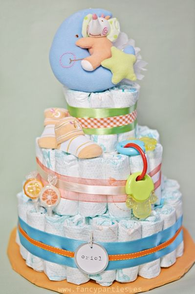 Southern Blue Celebrations Gender Neutral Diaper Cakes