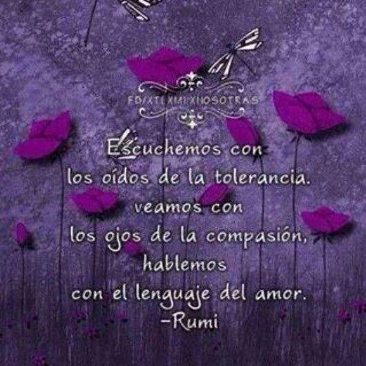 Tolerancia, compasion, amor