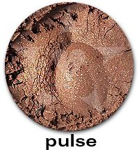 """""""Pulse"""", from the Aromaleigh """"Pure Eyes Frost"""" Eyeshadow Collection.    Pulse has a frost finish in a mid-tone warm coppered brown.    The """"Pure Eyes Frost"""" collection is based on Aromaleigh v1's """"Pure Eyes Frost"""" Collection, but with an expanded and improved color selection.    """"Pulse"""" does not have any Aromaleigh v1 shades that it is similar to.    http://www.aromaleigh.com/pueynafrmiey.html"""