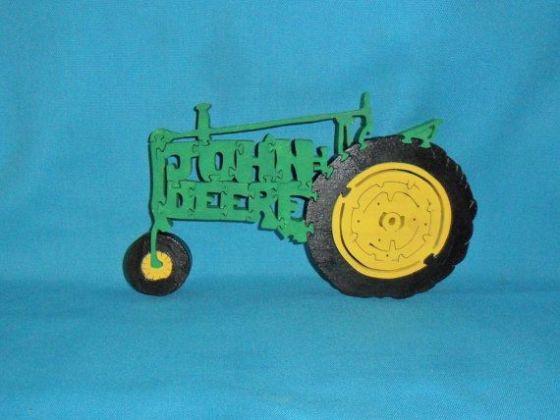 John Deere Tractor Scroll Saw Wooden Puzzle by huebysscrollsawart, $14