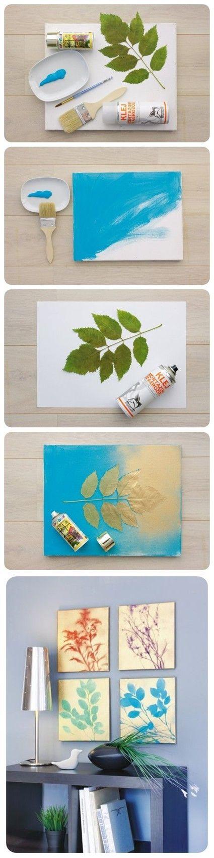 DIY  ::  Spray paint plant pictures