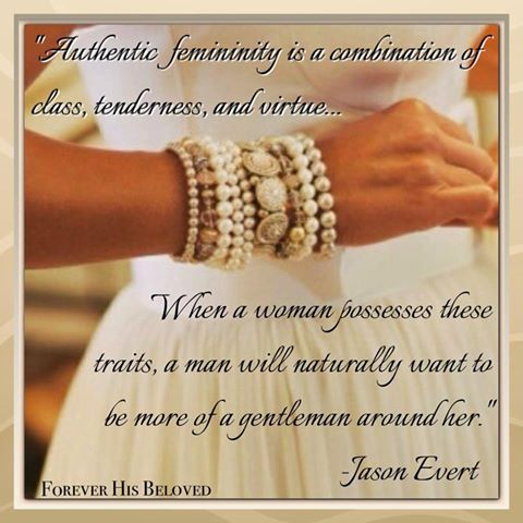 Authentic femininity....