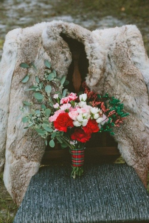 perfect plaid bouquet