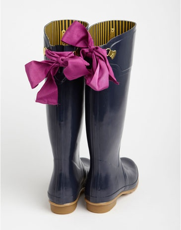 Joules rainboots - so cute, love the bows