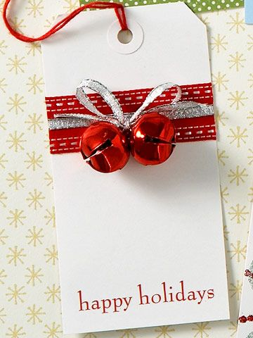 Decorate plain tags from the office supply store for gift tags