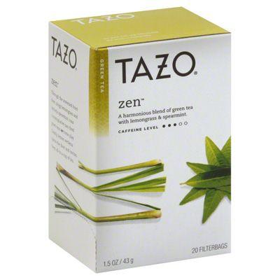 Tazo Green Tea Blend - Zen - 1 Box (20 tea bags)