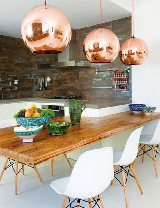 INFURN :: DSW Chairs and Copper Shade