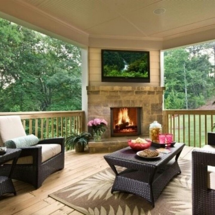 Beautiful back deck/ covered porch   Outside decor   Pinterest on Covered Back Porch Ideas id=56026