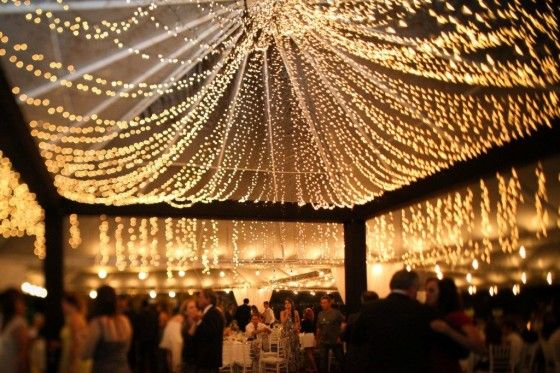 Canopy of lights/ beautiful!