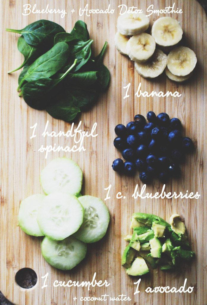 Blueberry + Avocado Detox Smoothie