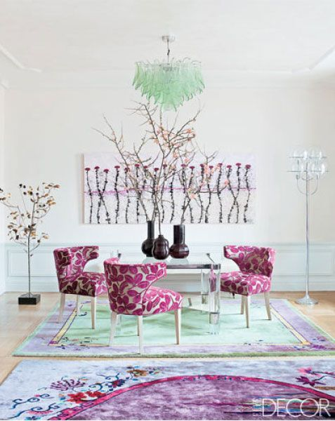 pantone radiant orchid. Orchid home decor.