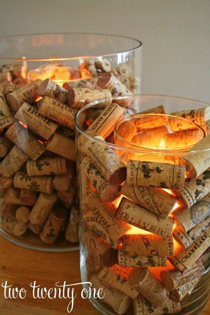 do it yourself velas corchos