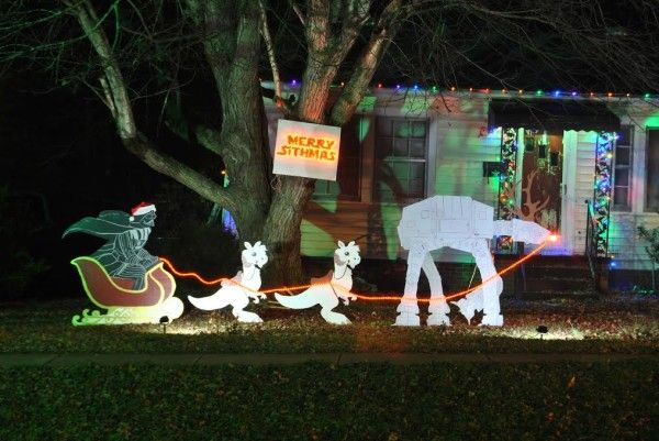 Merry Sithmas! Homemade Star Wars lawn ornaments