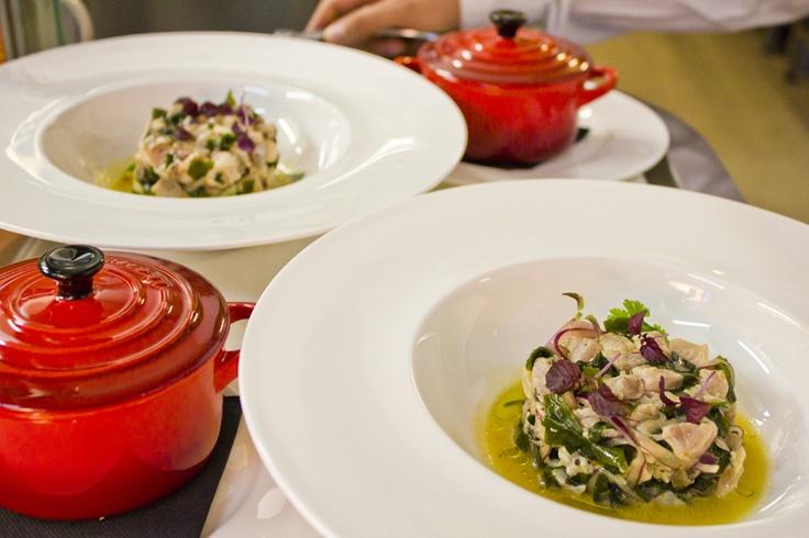 Tartar de chicharro arroz jazmín al vapor en La Nuez Restaurante