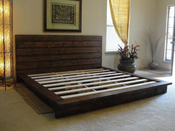 Diy King Platform Bed King rustic platform bed