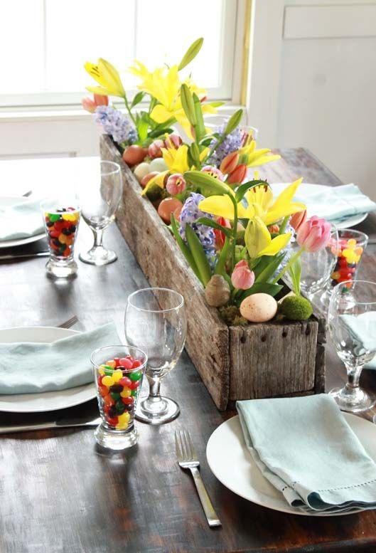 пасхальные композиции украшение стола пасха