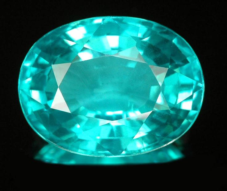 Apatite Almost Luminous Teal Color Apatite Creative