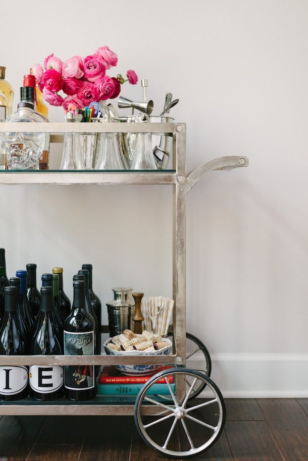 How To :: Make Your Bar Cart Beautiful