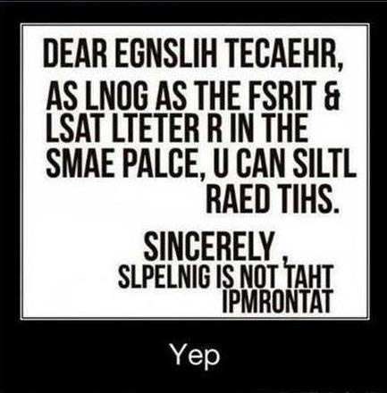 Dear English Teacher...