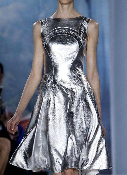 Valentin Yudashkin @Suzy Vulaca Kraintz/Tapa Living silver metallic lamb leather