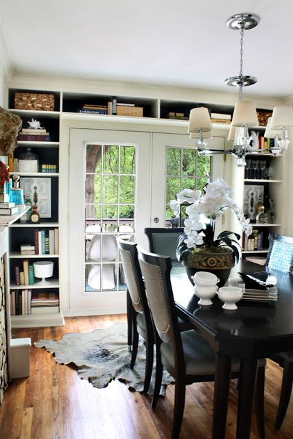 bookshelves around door…for downstairs patio
