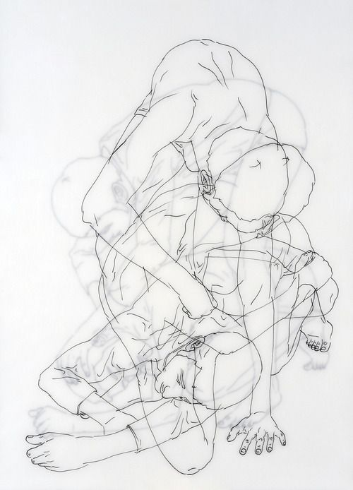 Sweet Illness (2009) by Moisés Mahiques - layered line drawing project